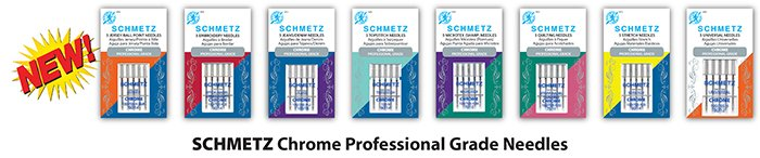 SCHMETZ Chrome Professional Grade Needles